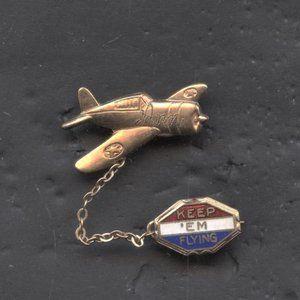 Vintage World War 2 Gold Filled Sweet Heart Medal
